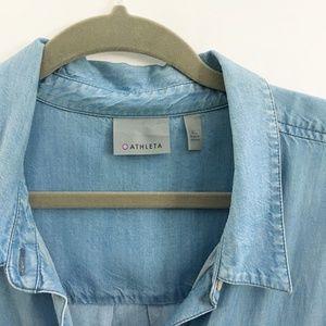 Athleta Tops - Athleta chambray button down shirt XL